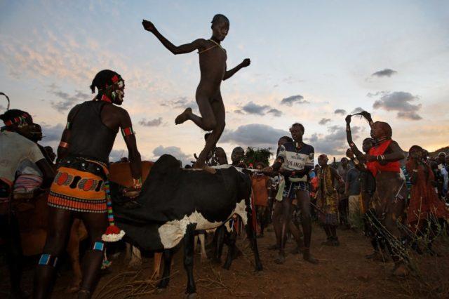Hamar Tribe Bull Jumping Ritual: